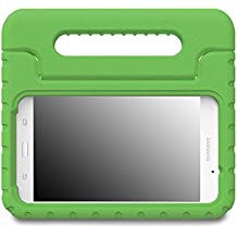 MoKo Tab A 7.0 Funda - MoKo Kids Shock Proof Convertible Handle Light Weight Super Protective Stand Cover Funda para Samsung Galaxy Tab A 7.0 Inch 2016 Released Tablet, Verde