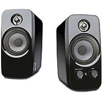 Creative Inspire T10-2.0 Desktop Lautsprecher (Stereo/AUX-IN/5 W RMS) schwarz