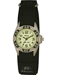 Ravel Children's Glow in the Dark Black Strap Watch