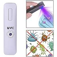 Qiuge La desinfección Ultravioleta portátil de luz UVC portátil rápido y eficiente desinfección de la luz, no tóxico Pequeña Luz Esterilización (Color : White)