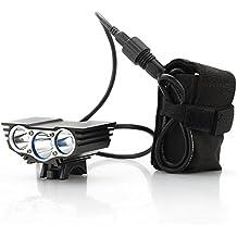 CREE XM-L U2–Luz para bicicletas 'RoadRunner'–3000lúmenes delantero para bicicleta Light + Batería recargable