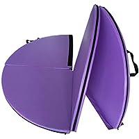 DQWGSS Colchoneta Plegable Colchoneta de Baile Colchoneta de Columpio gimnástica Seguridad Forma Redonda Esterilla de Yoga Espesor 5 cm,Púrpura,Diameter 160 cm