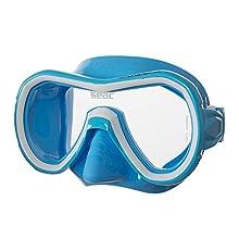 SEAC Unisex-Youth Giglio MD Mask, S/AZ Light Blue, Medium