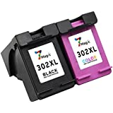 7Magic Cartucho Remanufacturado de Tinta HP 302 XL (1 Negro y 1 Trí-colour) de Alta Capacidad Compatible con HP Deskjet 2130 3630 3632 3633 3634 3635 2132 2134 Officejet 4650 Envy 4520 de Impresora