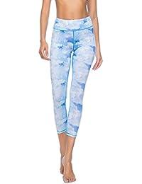 Pantalon Capri d entraînement pour femme SOUTEAM Imprimé Leggings Yoga  actif, motif aquarelle cf0641200e6