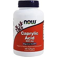 Ácido caprílico, 600 mg, 100 pastillas - Now Foods
