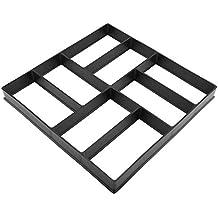 Molde para Cemento Molde pavimento Moldes con rectángulos hormigón, Molde de Pavimiento Concrete para Escalón