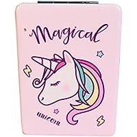 Lymocha 1pcs Portátil Plegable Espejo de Maquillaje Unicornio, Mini Espejo Plegable de Mano Utensilios y Accesorios para Maquillaje Size 8.5 * 6.2cm (Estilo C)