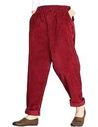 Vogstyle Pantalones cortos de Otoño / Invierno de Corduroy para mujer con bolsillos