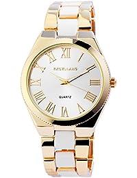 Trend de Wares de mujer reloj de pulsera plata oro blanco analógico de cuarzo metal clásico Números Romanos Mujer Reloj