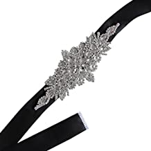 Leisial™ Correa de Novia Vestido Cinto Fajas de Cristal para Novia de Boda Cristal Accesorios