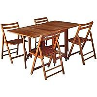 Tavolo pieghevole con sedie giardino e giardinaggio - Tavolo pieghevole con sedie ...