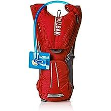 CamelBak - Mochila de hidratación para running o ciclismo, color Rojo, 40 x 26 x 15 cm