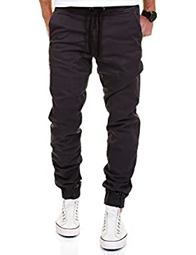 Merish Uomo Pantaloni Chino Cotone, Pantaloni di panno, SlimFit Pantaloni Casual Uomo Pantaloni Jogging Pantaloni...