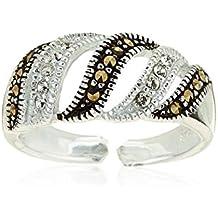 Córdoba Jewels | Sortijas de Plata de Ley 925 . Ajustable con diseño Classic Marquesitas