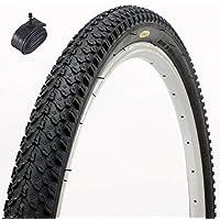 Fincci MTB montaña híbrida neumático de bicicleta Cubiertas 26 x 2,125 57-559 y Schrader