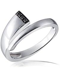 Goldmaid - Fa R5215S52 - Bague Femme - Argent 925/1000 2.8 gr - Diamant Noir 0.03 cts - T 52