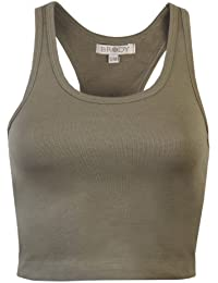 c5dd66eb558a0 Brody   Co. Womens Vest Ladies Cropped Racer Vest Tops By 3 4 Muscle