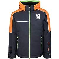 Dare 2b - Chaqueta de esquí con Aislamiento Impermeable para niños, Infantil, Color Ebony Grey/Vibrant Orange, tamaño 13 años