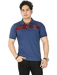 Basilio Men's Solid-Royal Pure Cotton T-Shirt