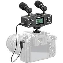 Saramonic CaMixer, kit microfono con doppio microfono stereo a condensatore, mixer digitale e ingresso XLR/Mini-XLR con preamplificatore Phantom Power +48V - per fotocamere DSLR e videocamere