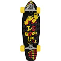 Dos pies descalzos TBF # 829Carving Cruiser–Monopatín completo (, Unisex, TBF #829 Complete Carving, Ransom Black/Yellow, One Size/29 x 8.5-Inch