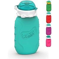 ❤ Squeasy Snacker, 180ml - Wiederverwendbares Silikon Quetschie zum selbst befüllen mit u.a. Smoothie, Baby-Brei, Mus oder Joghurt