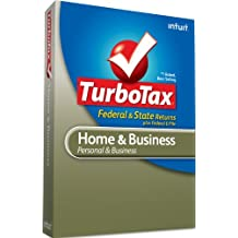 Intuit Turbotax Home & Business Federal + E-File + State 2010 - [Old Version]
