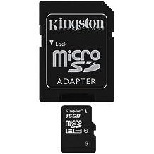 Kingston Scheda MicroSDHC/SDXC Classe 10 UHS-I, 16 GB, Velocità Minima