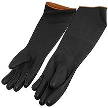 """Sourcingmap a11111100ux0134 - 20.5 """"de la industria de protección contra ácidos químicos guantes de trabajo de goma alcalino"""