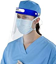 Oriley ORFS01 350 Micron Disposable Face Shield with Adjustable Elastic Strap Anti-Splash Single Use Protectiv