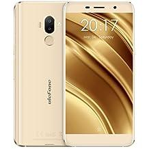Ulefone S8 Pro - Smartphones y Móviles 4G Android 7.0 Dual SIM Quad Core 2GB RAM + 16GB ROM 5,3 Pulgadas Pantalla IPS HD Cámara Triple (5MP + 5MP + 13MP )Escáner de Huellas Dactilares Teléfono Móvil (Oro)