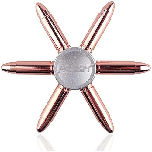 fidget spinner el nuevo juguete de moda Rotibox EDC Mani Spinner Fidget giocattolo del metallo durevole con liscia ad alta velocità cuscinetto in ceramica Spins per 2-4 mins - Oro Rosa