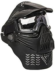 ALEKO pbm225bk anti niebla del ejército táctico Paintball máscara con correa elástica doble, color negro