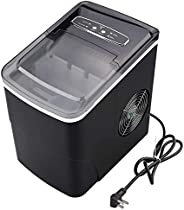 Ice Maker Countertop Machine, 9 Ice Cubes Ready in 8 Minutes, 26lbs Bullet Ice Cubes in 24H, Electric Ice Make