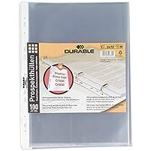 Durable 267219 Prospekthüllen (DIN A4 Business, 0,06 mm) 100 Stück glasklar