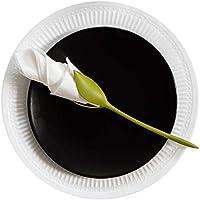 Juego de 4verde tallo plástico Twist capullos de flores servilleta soportes plus blanco servilletas de papel para hacer Original de mesa
