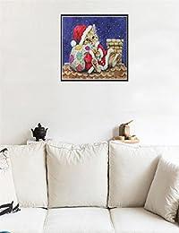 ansenesna 5d Diamante Pintura Navidad Muñeco de nieve bordado Fai Da Te punto de cruz kit