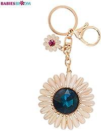Babies Bloom Bling Rhinestone Crystal Sunflower Key Chain/Bag Charm