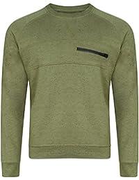 c572d208cc Genetic Apparel Men's Mohair Crew Neck Front Zip Long Sleeve Sweatshirt  Knitted Top Size S-