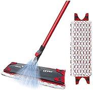 Vileda 166710 1-2 Spraymopp med extra Mikrofiberdyna, Röd, 129cm x 15cm x 6.5 cm
