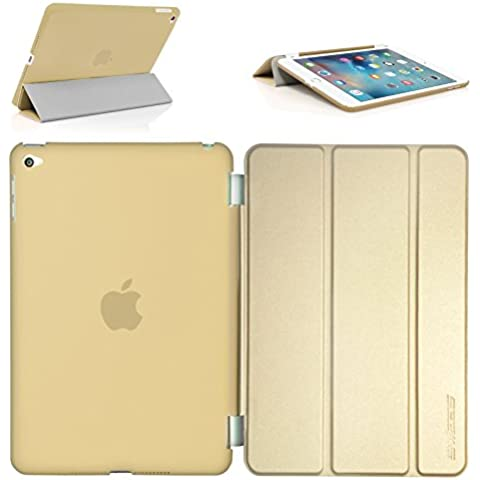 iPad Mini 4 Funda,Swees Funda Doble Protección Ultra Delgada y Ligera Carcasa con Stand Función y Auto-Sueño/Estela para Apple iPad Mini 4 Lanzado en 2015 Smart Case Cover (Amarillo