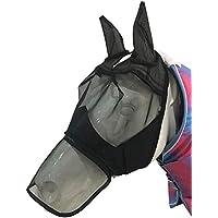Zaote Masque détachable de Maille de Masque de Visage de Moustique avec Le Masque de Cheval de Couverture nasale de Fermeture éclair (L)