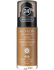 82e7455774df REVLON Fond de Teint ColorStay Peaux Mixtes à Grasses N° 400 Caramel ...