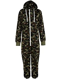 80ea42621e5e Mens Camo Camouflage Onesie Hooded Zip Onesies Playsuit All in One Piece  Jumpsuit Nouvelle Adult onesie
