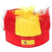 Mengonee World Cup Fanáticos del fútbol Gorras Sombreros con Peluca Diadema  Soccer Game Headwear Hair Piece 21ea68fd24e