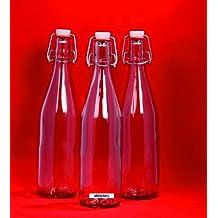 16 Botellas de Cristal Vacías 250 ml BOR Botellas con Corchos para Usted Mismo Relleno 0.25 Litros Botellas para Licor Botellas para Alcohol Botellas para Vinagre Botellas para Aceite Corchos Puede Variar el Color. De slkfactory