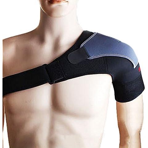 WINLINK Con ajustable unisex ejercicios de gimnasia deportiva solo hombro de compresión de la ayuda del apoyo de la correa del abrigo de la banda Pad - hombro izquierdo