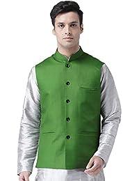 0cbdb099d2 Vastraa Fusion Men's Blended Bandhgala Festive Nehru Jacket/Waistcoat