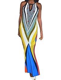 005b272140d0 Internet Donna Vestiti Slim Bohemian Stampa Dress Spiaggia